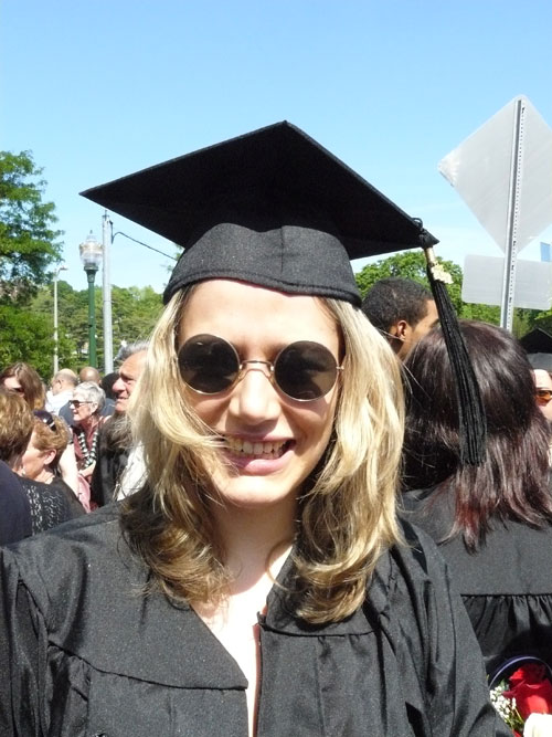 Sarah Banks Hartshorne at her graduation from SUNY Purchase