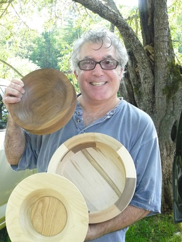 Tim Caspary with his wood bowls