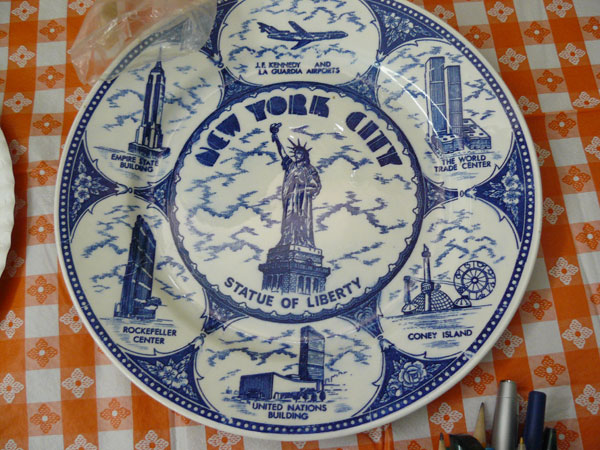 New York City souvenir plate