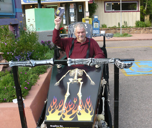 A racing coffin in Manitou Springs, Colorado