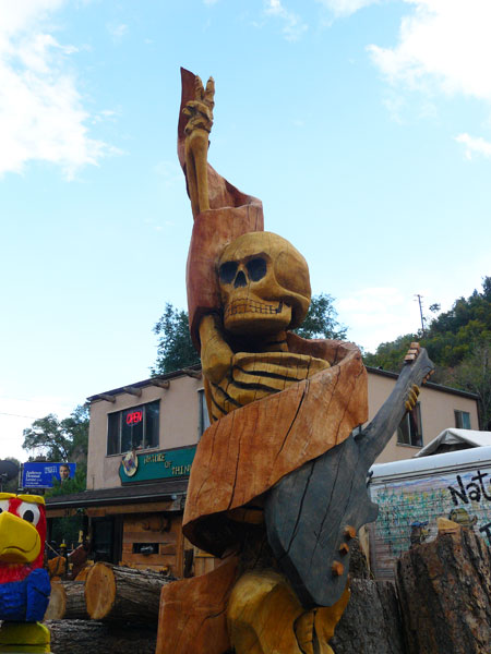 Chainsaw sculpture at The Nature of Things in Manitou Springs, Colorado