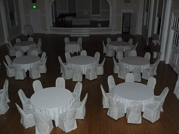 The ballroom at the Stanley Hotel in Estes Park, Colorado