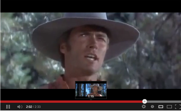 "Clint Eastwood sings ""I Talk to the Trees"""