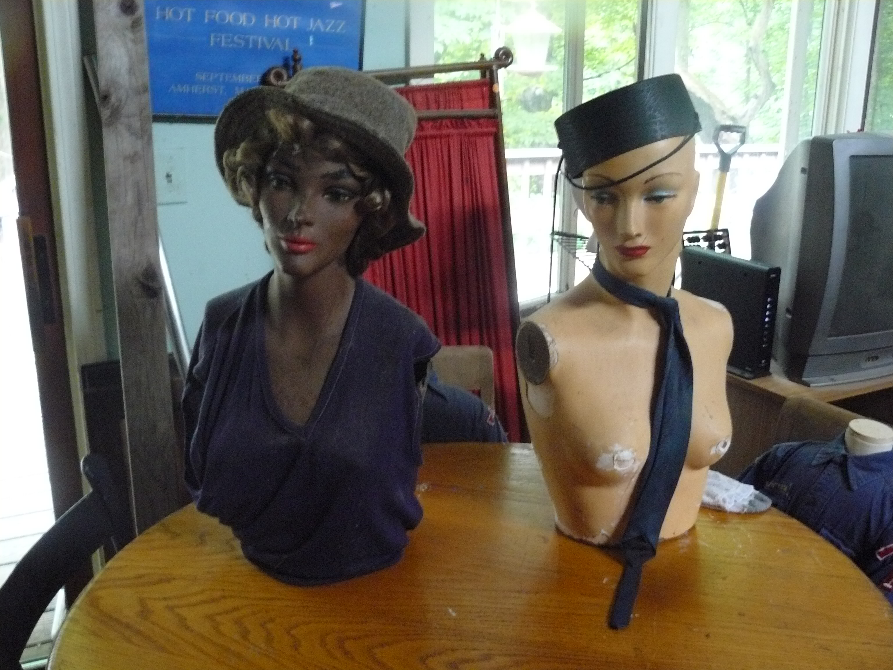 Mannequins from the estate of Bob Hay
