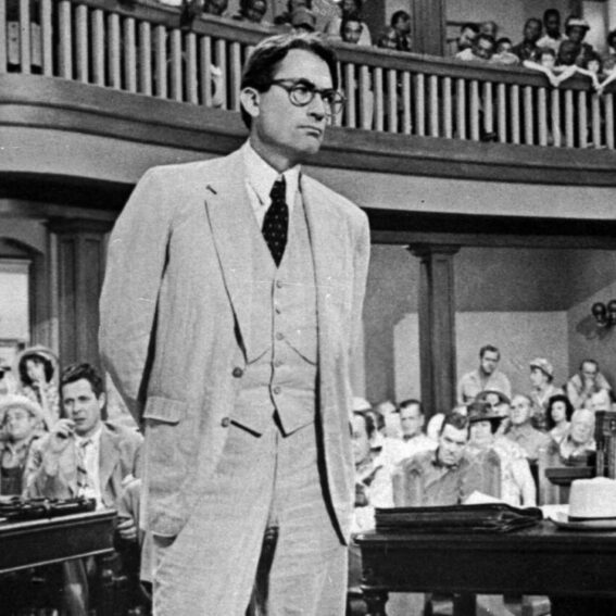 Gregory Peck in the courthouse in Monroeville
