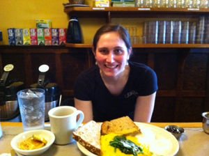 Jakes offers creative breakfast and lunches.