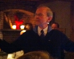 Michael Kittredge speaks at Kringle Candle.