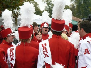 Alabama Crimson Tide Band members in Tuscaloosa before the Iron Bowl.