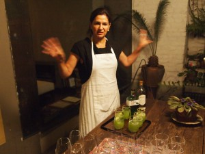 Chef Monica Patino serves us 'January 19' drinks.