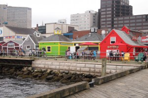 Long boardwalk in Halifax.