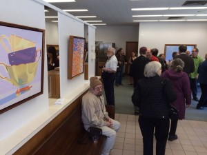 A good crowd showed up to support the exciting Arts Bank in South Deerfield.