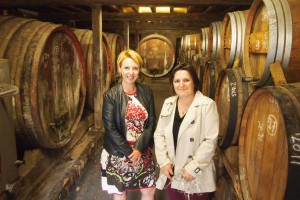 Sandra Lemarcechal, head of Armagnac marketing, with Laurance at Ch Millet