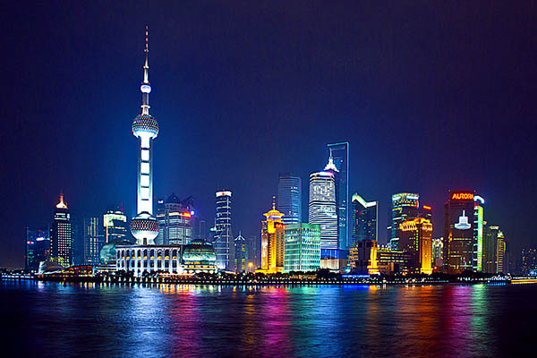 The Bund in Shanghai China