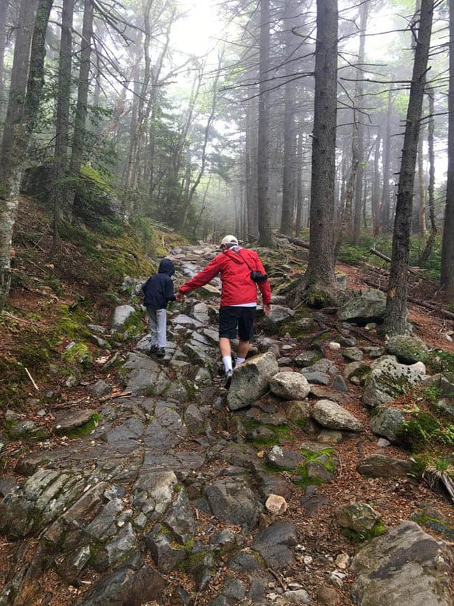 Hiking Mount Kearsarge. Hiking with kids. New Hampshire.