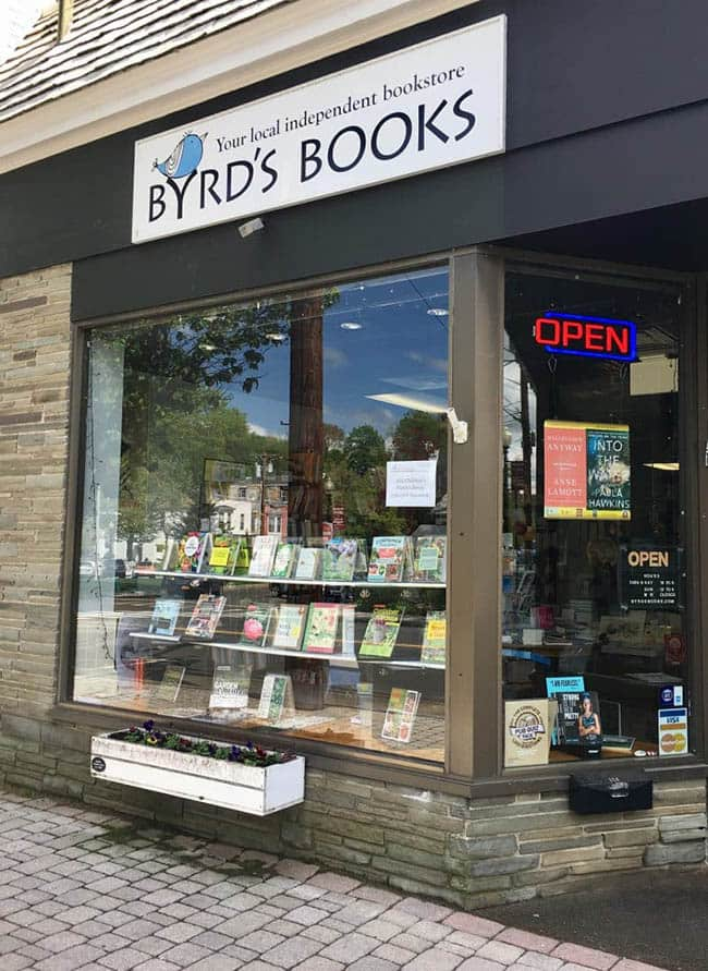 Byrd's Books in Bethel, Connecticut.
