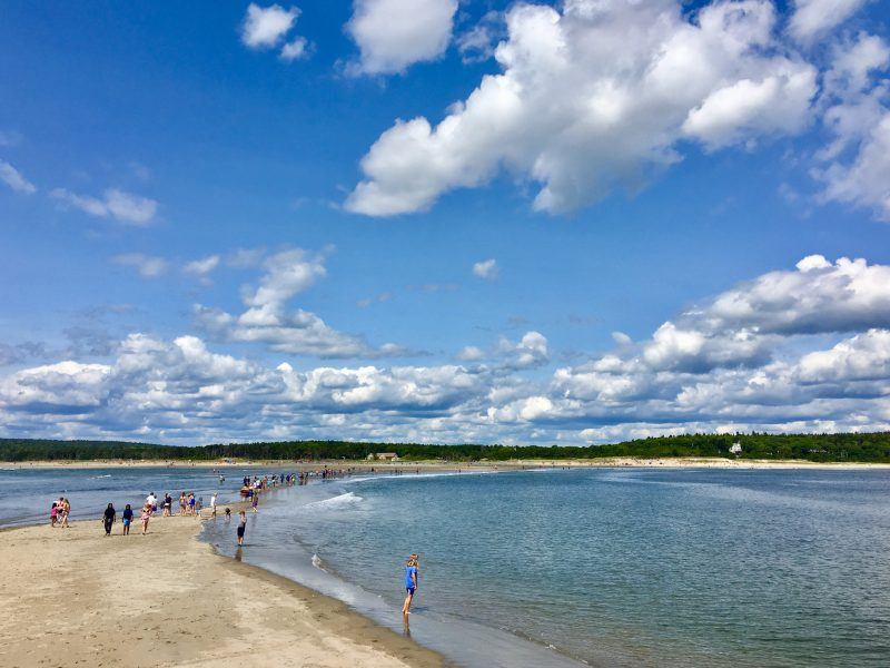 Popham Beach in Phippsburg, Maine