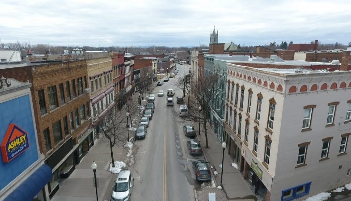 Downtown Aerial Plattsburgh