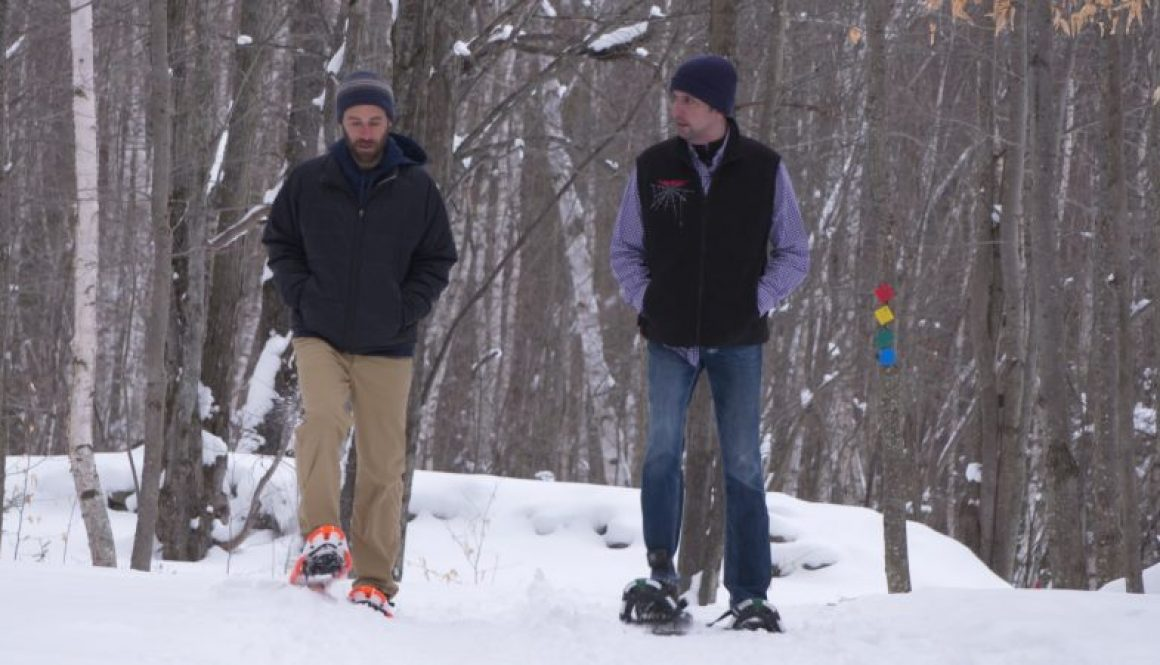 Plucky about snowshoeing at the New Land Trust