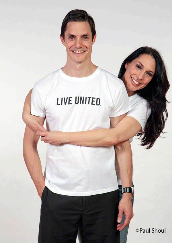 United way live united add campaign photograph with michael morin and tracey hamilton