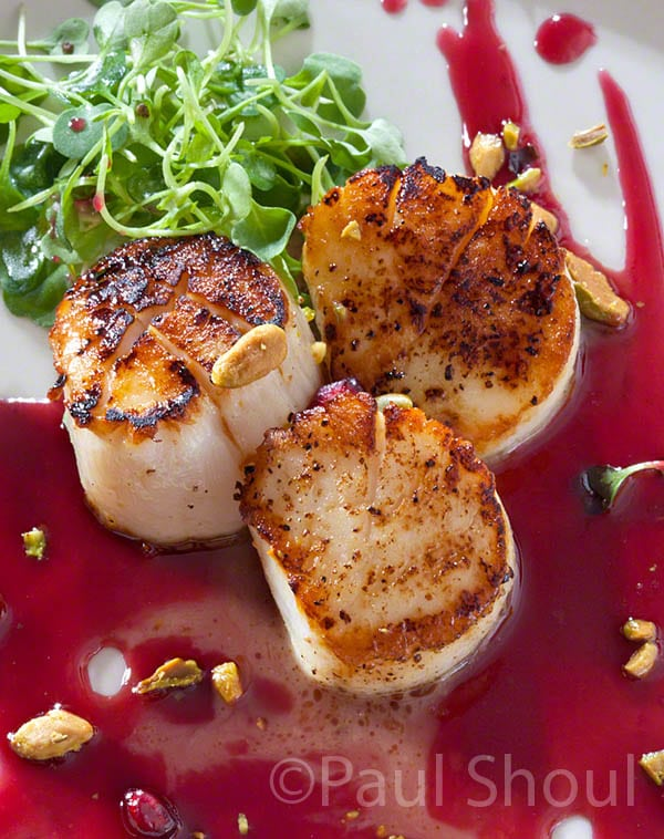 scallops with pomegranate and pistachios alina's