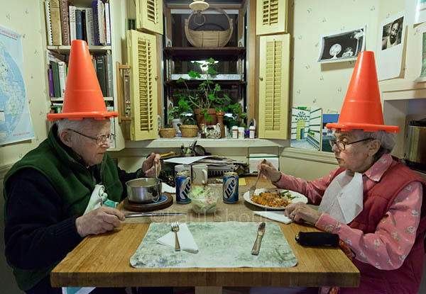 aging in place seniors safe at home elderly hazard cone heads