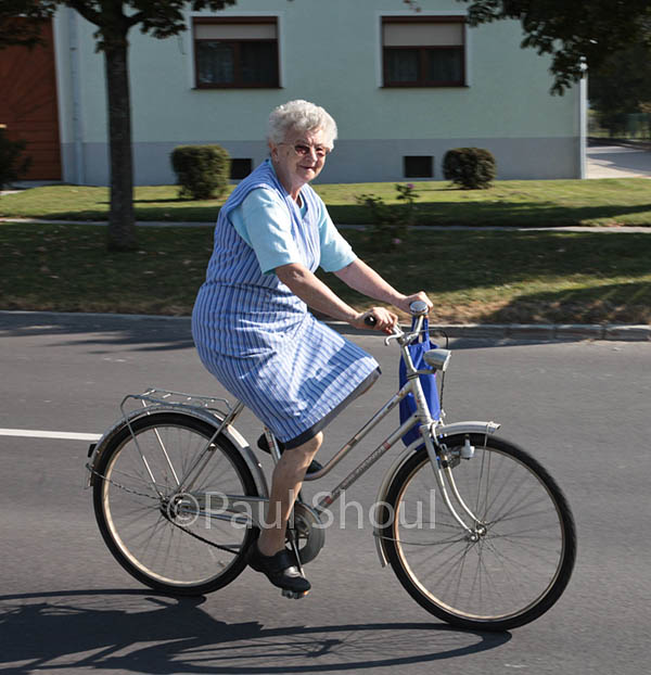 austria biking woman in raiding burgenland