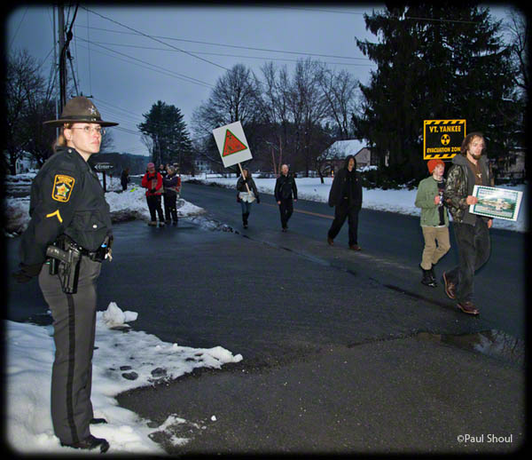 vermont yankee nuclear power plant protest 3/3/2012