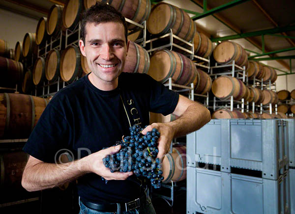 Erich Scheiblhofer at his winery in Burgenland Austria