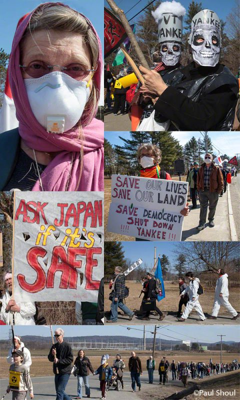 march from the Vermont Yankee nuclear power plant to Brattleboro on one year anniversary of Japanese disaster