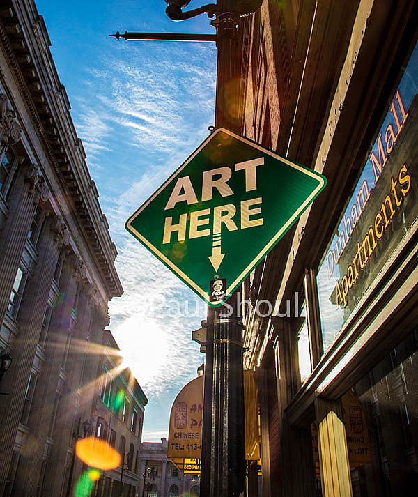 Pittsfield art here sign photograph for American Style magazine by paul shoul