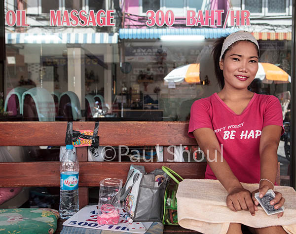 Thai massage girl in Pattya Thailand