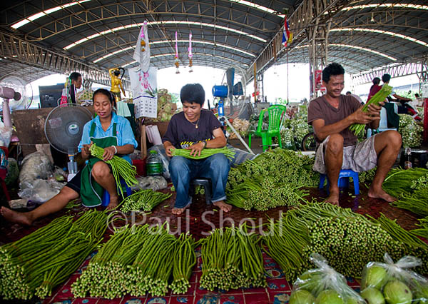 Talad Thai wholesale market in Thailand