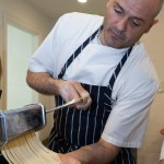 pasta class with chef Chris Eddy at the Winvian cooking school