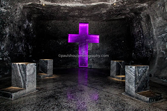 salt cathedral-Zipaquira Colombia cross