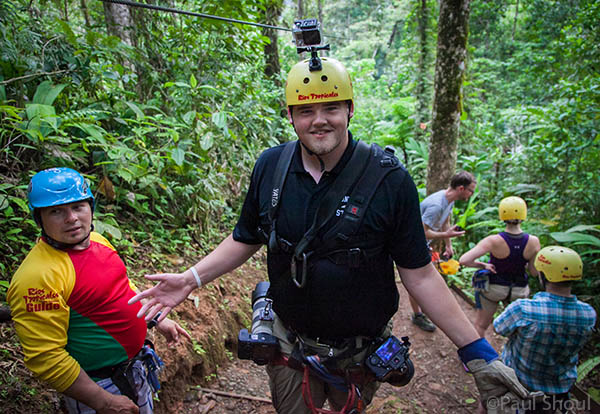 andy austin at the rios tropicales lodge canopy zip line costa rica