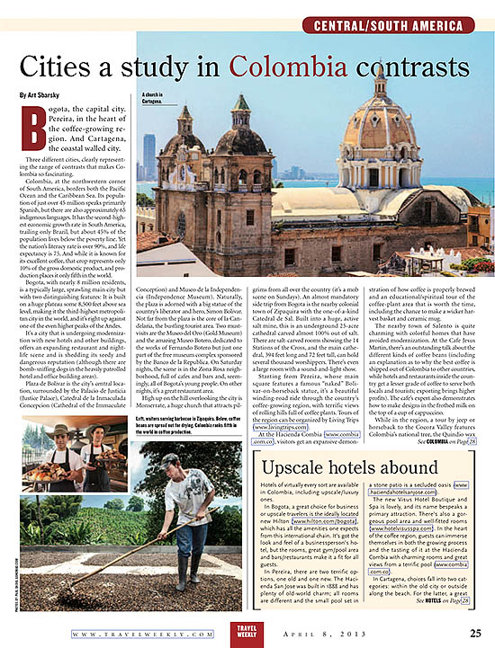 travel weekly colombia photographs by paul shoul