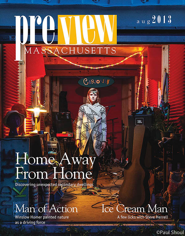 Cover preview Massachusetts of And the Kids Meagun Miller in her pod band practice space for a story on dwellings