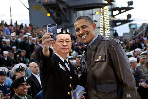 obamah selfie with Jaqng song thaek