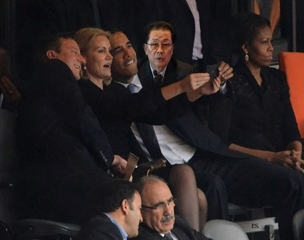 obamah selfie with Jang Song Thaek