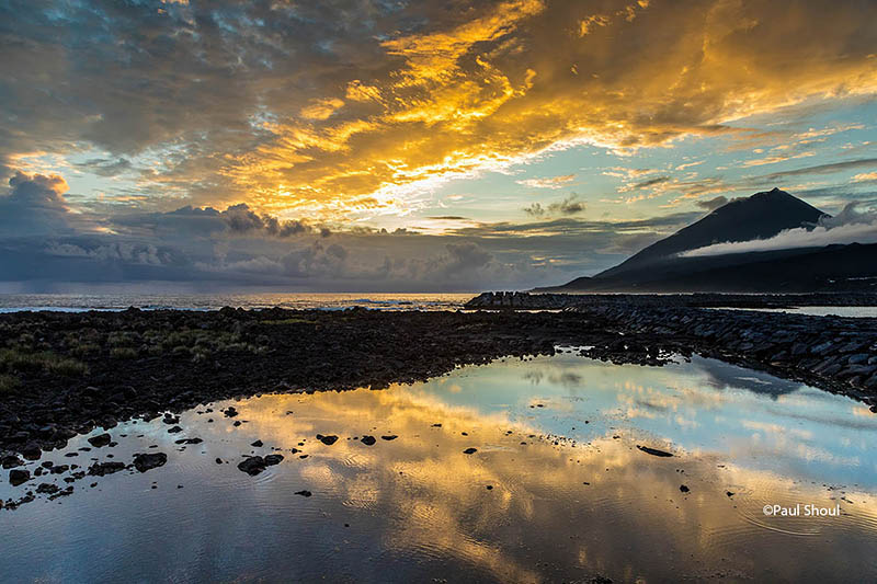 sunset pico island azores portugal