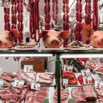 Bilbao Spain La Ribera Market. The Three Little Pigs