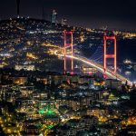 Bosphorus Bridge. Istanbul at Night.