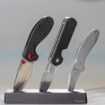 The Quiet Carry Eddy, CJRB Maileah, and Kershaw Chive. Best Fifth Pocket EDC Travel Knives