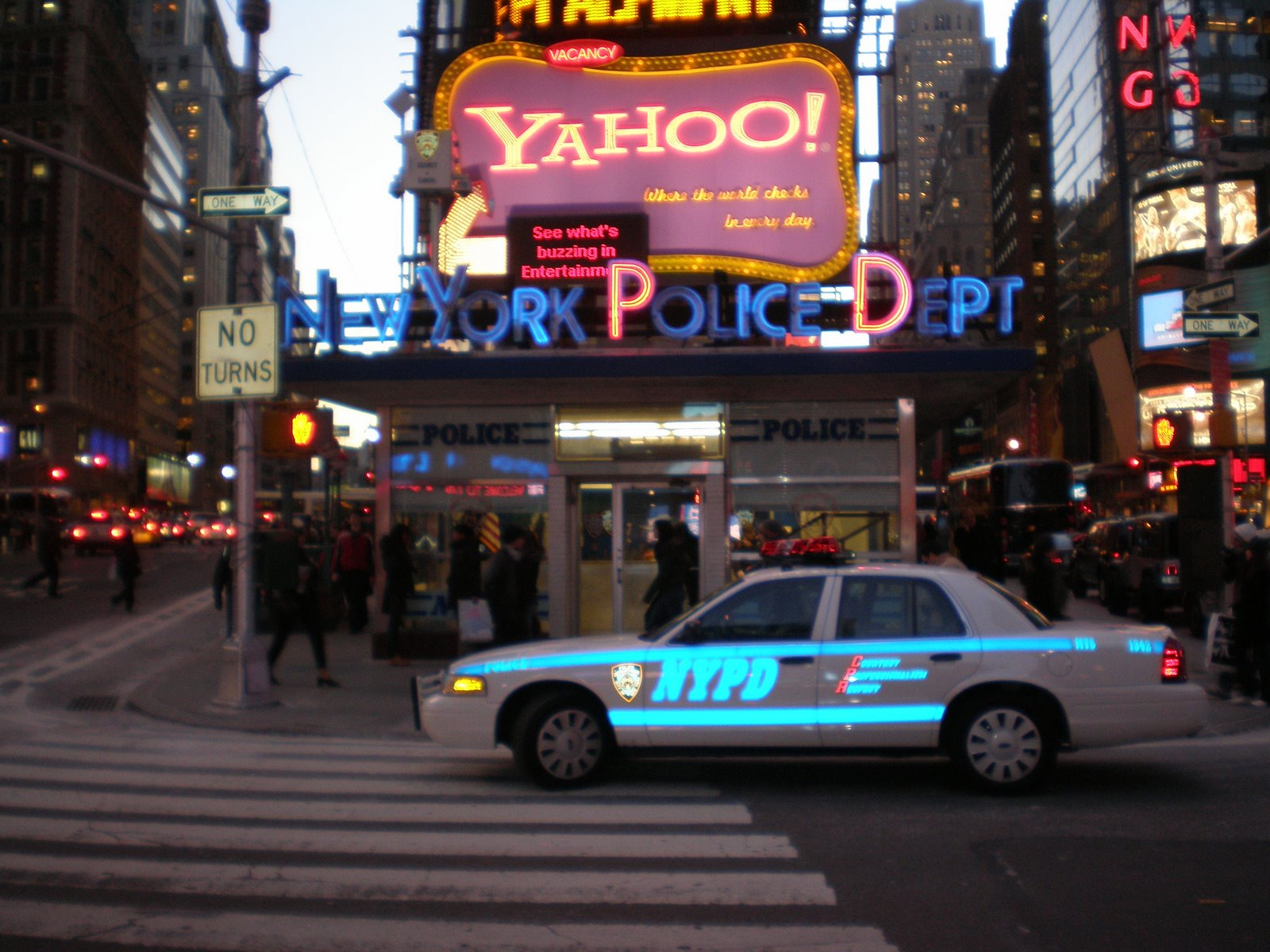 Nypd On Times Square Be Our Guest